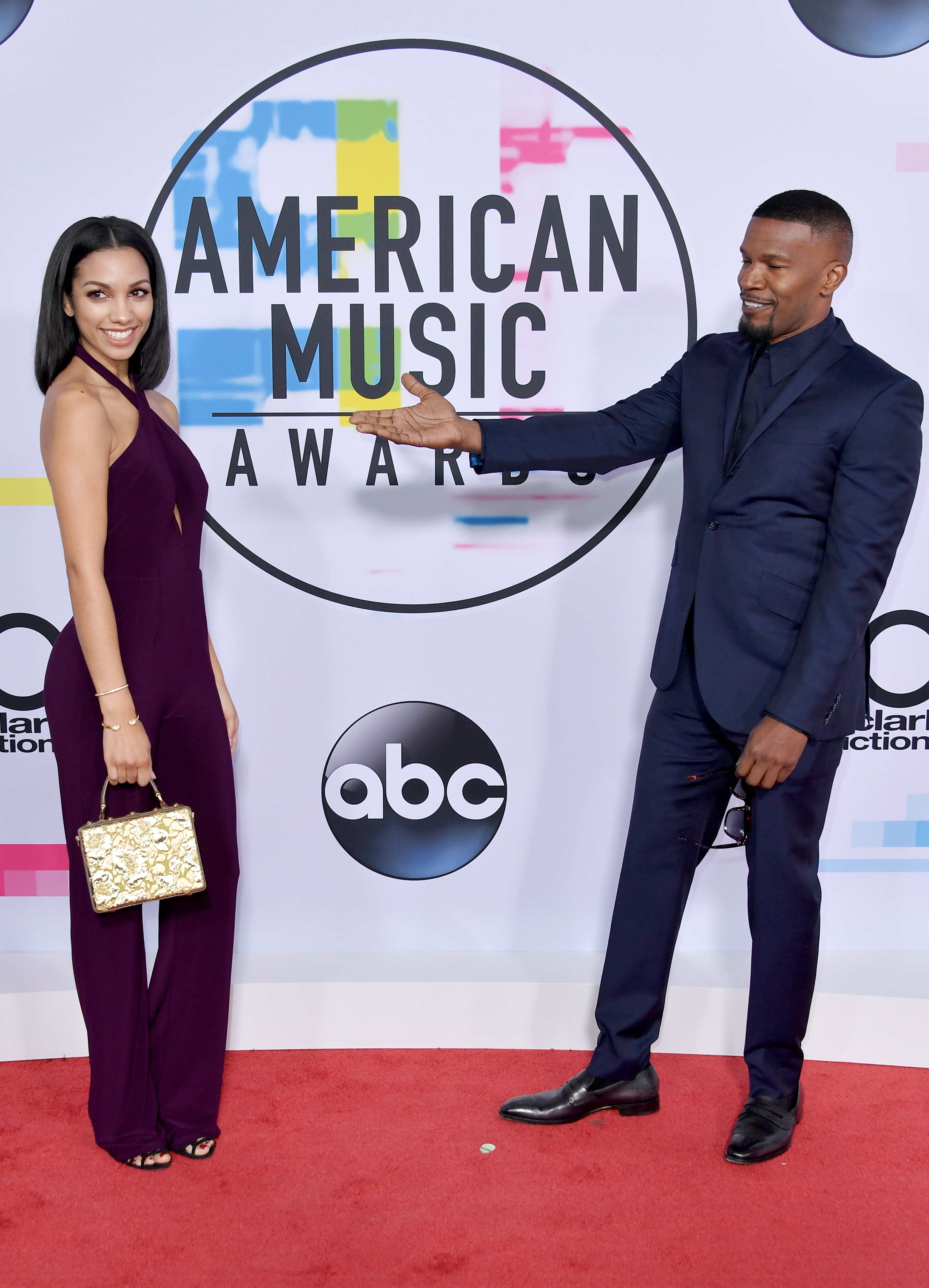 <div class='meta'><div class='origin-logo' data-origin='none'></div><span class='caption-text' data-credit='Neilson Barnard/Getty Images'>Corinne Foxx (L) and Jamie Foxx attend the 2017 American Music Awards at Microsoft Theater on November 19, 2017 in Los Angeles, California.</span></div>