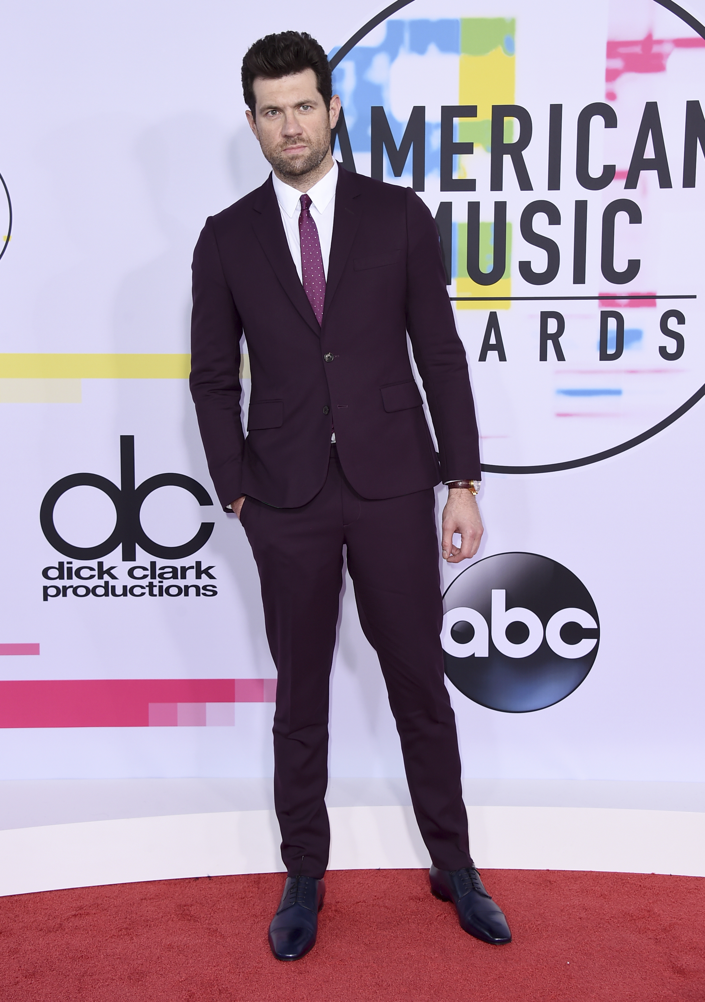 <div class='meta'><div class='origin-logo' data-origin='none'></div><span class='caption-text' data-credit='Jordan Strauss/Invision/AP'>Billy Eichner arrives at the American Music Awards at the Microsoft Theater on Sunday, Nov. 19, 2017, in Los Angeles.</span></div>