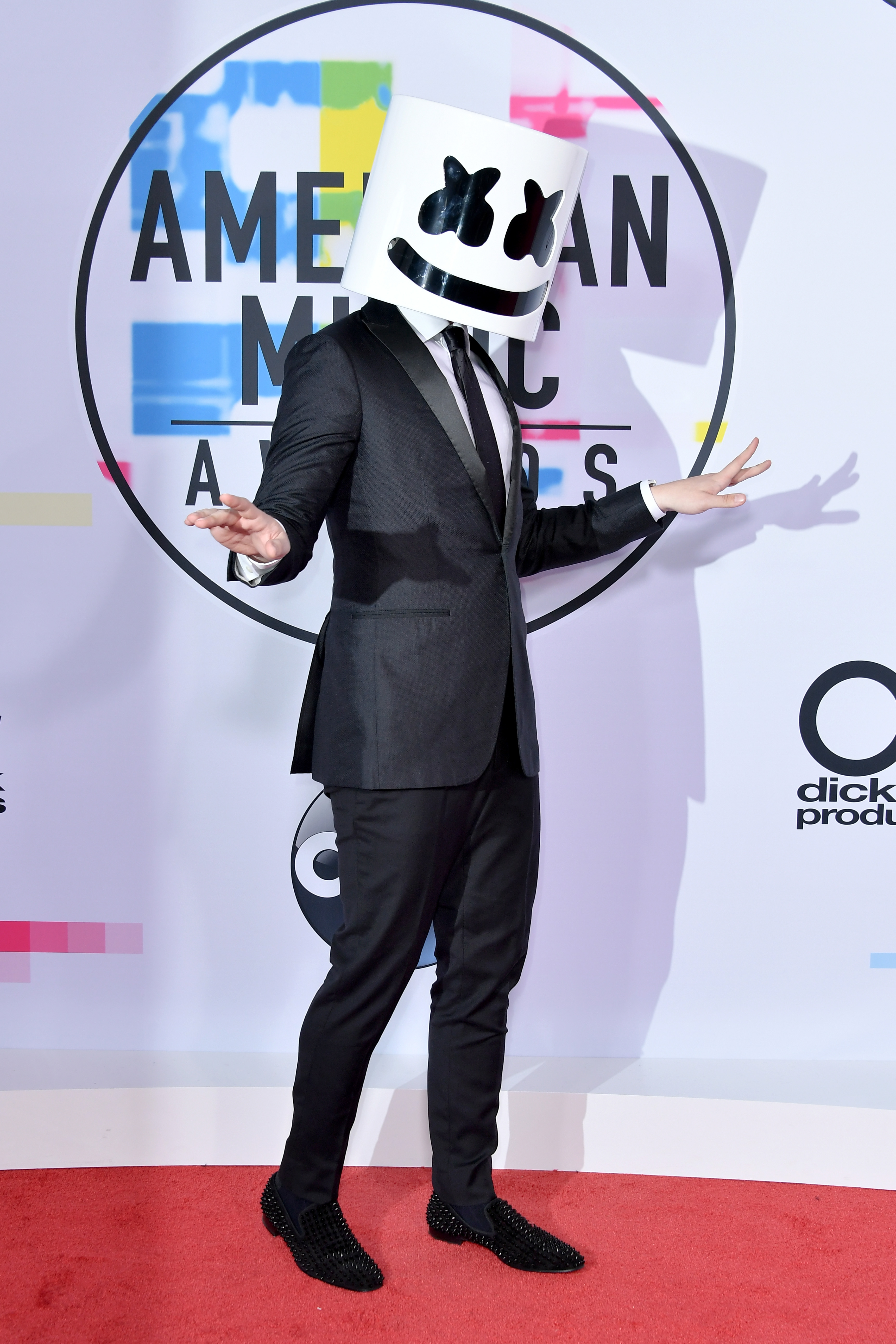 <div class='meta'><div class='origin-logo' data-origin='none'></div><span class='caption-text' data-credit='Neilson Barnard/Getty Images)'>Marshmello attends the 2017 American Music Awards at Microsoft Theater on November 19, 2017 in Los Angeles, California.</span></div>