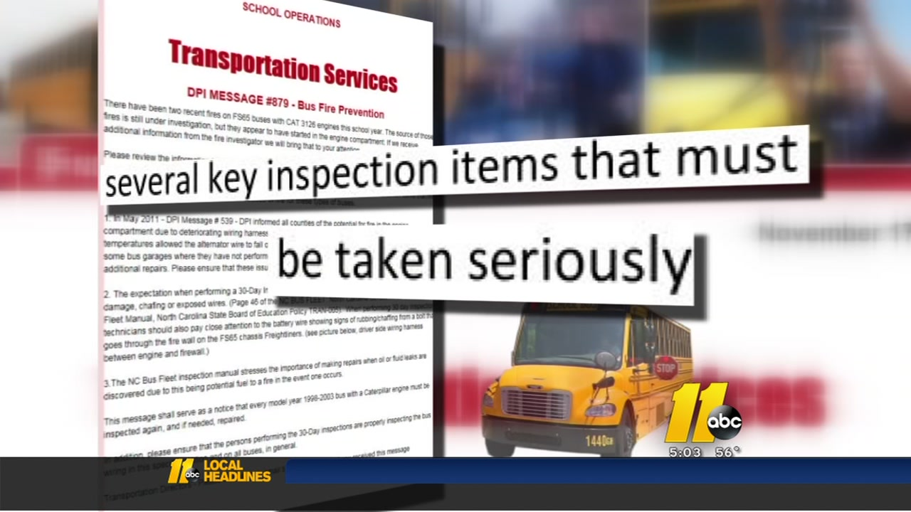 Wake County And Other School Districts Told To Check Buses. Wake County And Other School Districts Told To Check Buses After Fires Abc11. Freightliner. Freightliner Fs65 Heater Wiring At Scoala.co