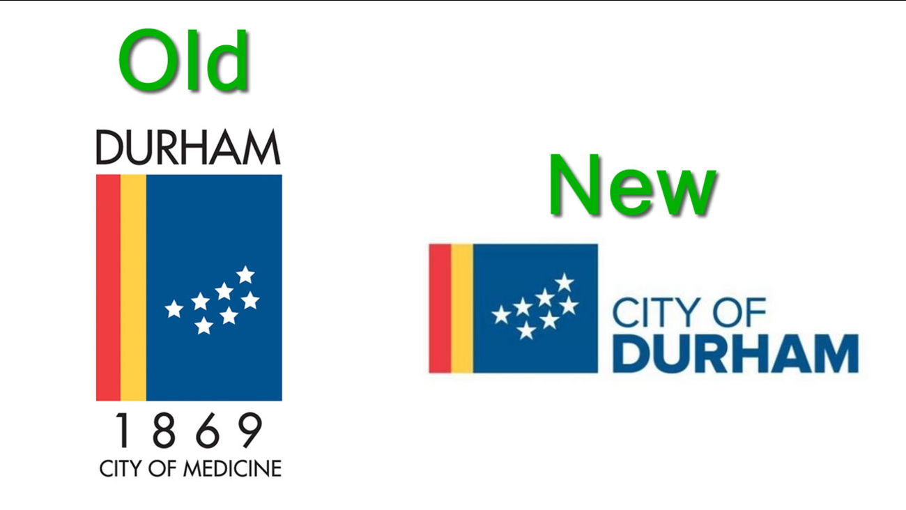 Durham's old and new logos