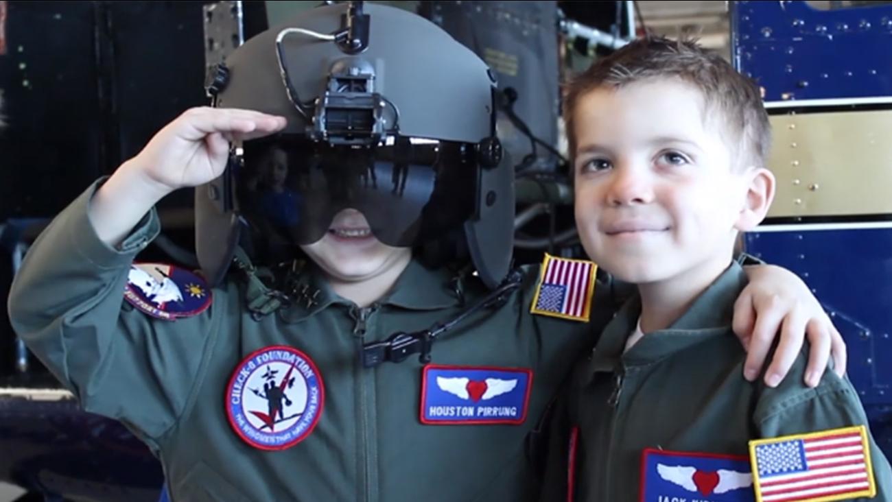 Houston Pirrung (left) and Jack Kirkbride