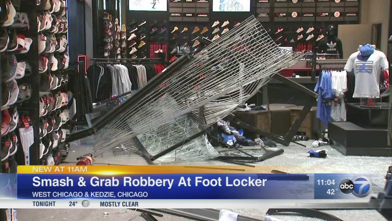 Buglars smash into Humboldt Park Foot Locker