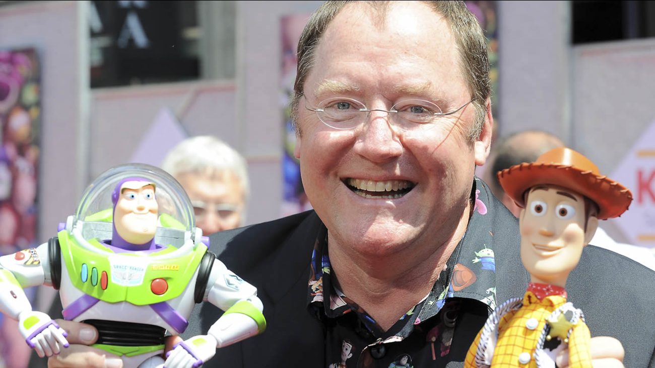 "In this June 13, 2010 file photo, John Lasseter arrives at the world premiere of ""Toy Story 3,"" at The El Capitan Theater in Los Angeles. (AP Photo/Katy Winn, file)"