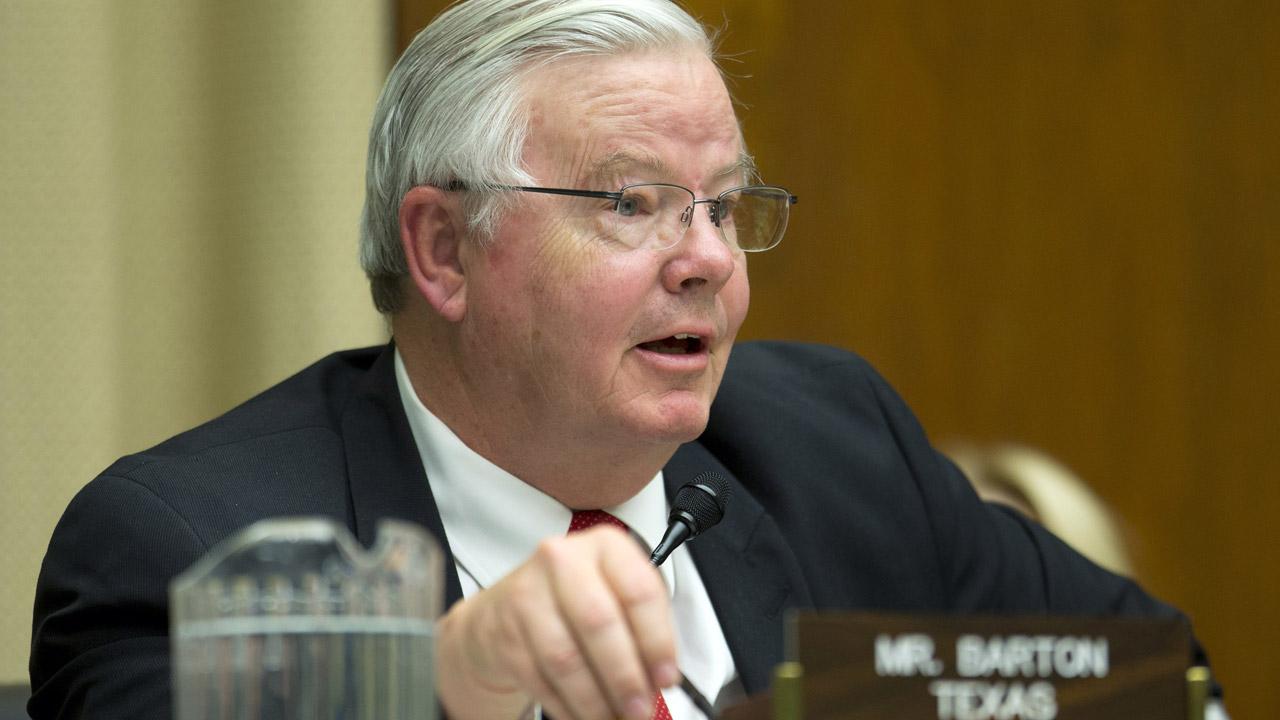 Texas Congressman Joe Barton, embarrassed by sex scandal