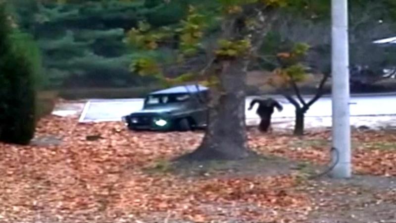 North Korean soldier's escape caught on video