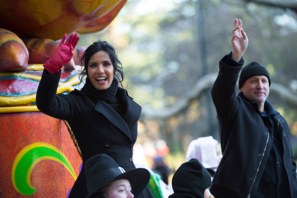 <div class='meta'><div class='origin-logo' data-origin='AP'></div><span class='caption-text' data-credit=''>Padma Lakshmi appears at the 91st Macy's Thanksgiving Day Parade on Thursday, Nov. 23, 2017, in New York. (Photo by Scott Roth/Invision/AP)</span></div>