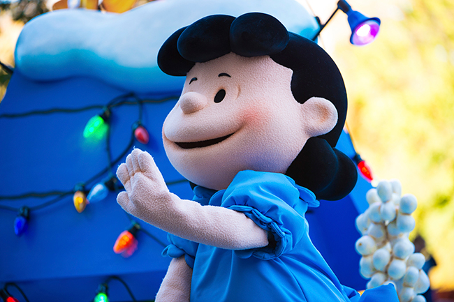 <div class='meta'><div class='origin-logo' data-origin='AP'></div><span class='caption-text' data-credit=''>Character Lucy van Pelt of comic strip Peanuts is seen at the 91st Macy's Thanksgiving Day Parade on Thursday, Nov. 23, 2017, in New York. (Photo by Scott Roth/Invision/AP)</span></div>