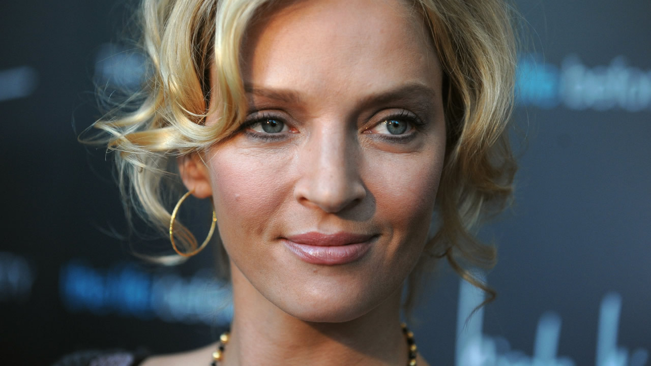 "** FILE ** In this April 15, 2008 file photo, actress Uma Thurman arrives at the Cinema Society screening of ""The Life Before Her Eyes"" , in New York. (AP Photo/Peter Kramer, file)"