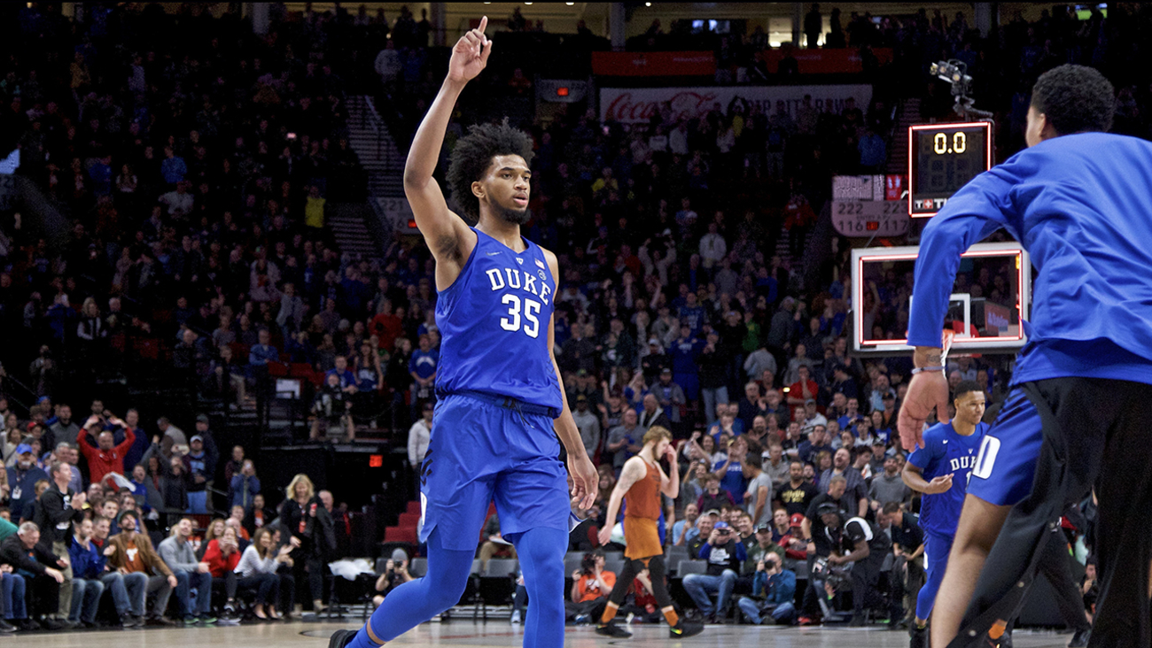 Still No. 1 ... Marvin Bagley's monster game helped Duke stave off Texas on Friday.