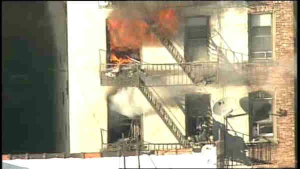 """<div class=""""meta image-caption""""><div class=""""origin-logo origin-image """"><span></span></div><span class=""""caption-text"""">One person was found dead in a fire at an apartment building in Hamilton Heights Monday evening. (Photo/WABC)</span></div>"""