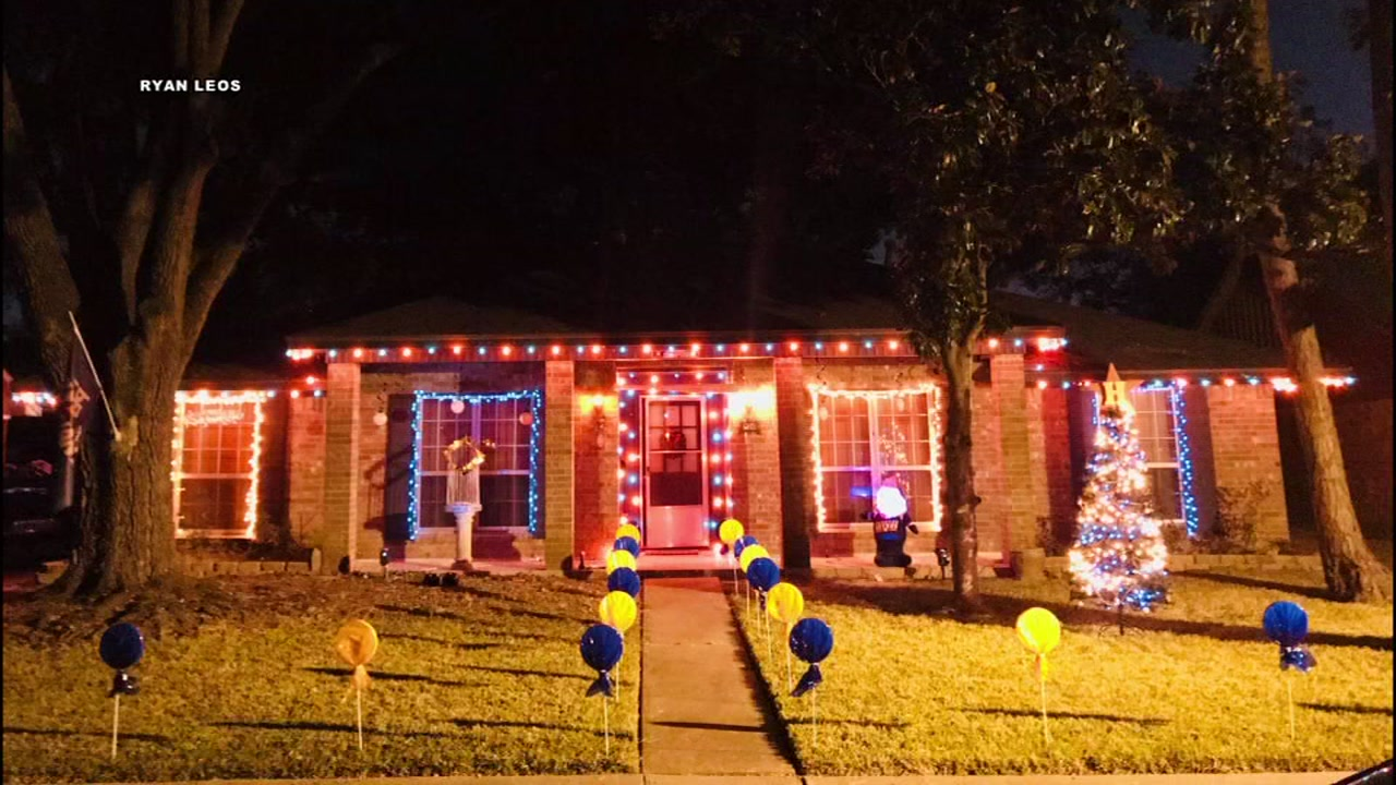 fans continue to celebrate world series win with astros themed christmas decorations - Christmas Decorations Houston