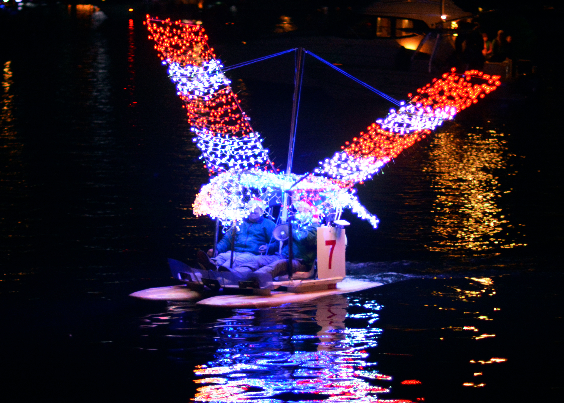 "<div class=""meta image-caption""><div class=""origin-logo origin-image none""><span>none</span></div><span class=""caption-text"">2017 NC Holiday Flotilla Best 22 ft and Under Award winner (Credit: Beth W. Hedgepeth)</span></div>"