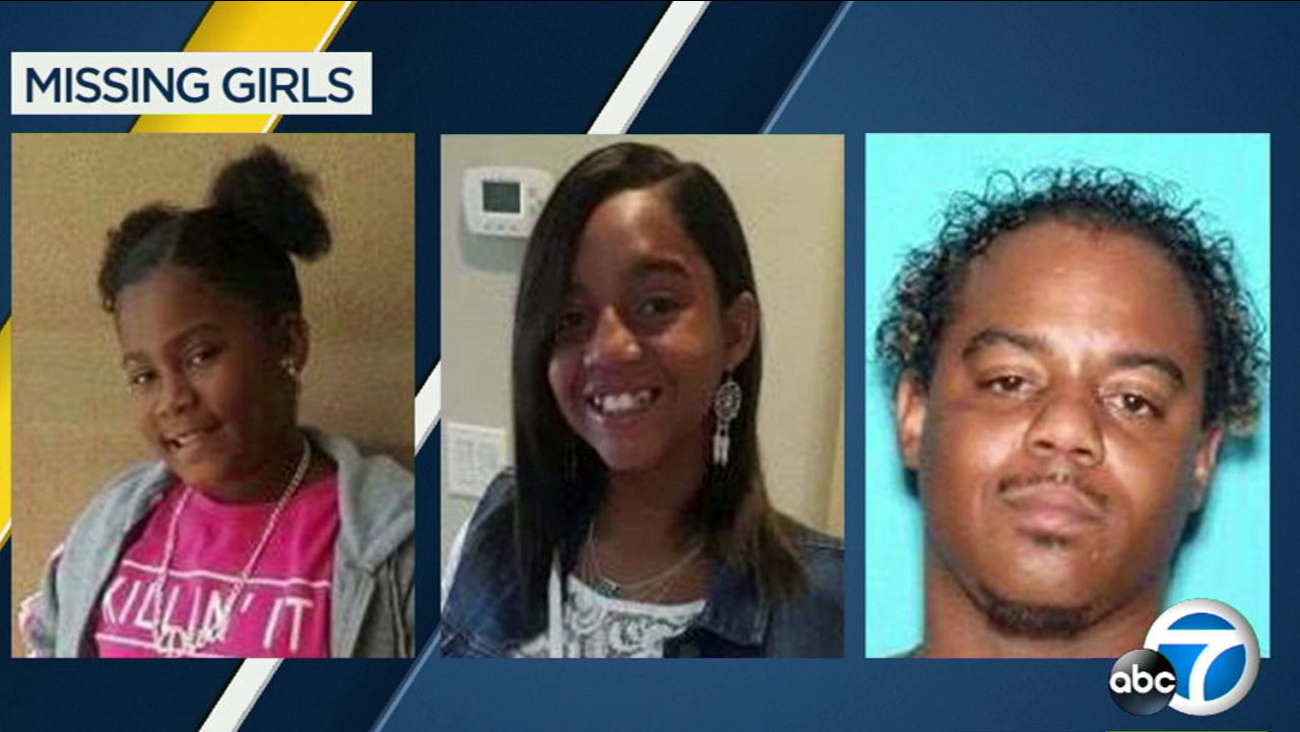 Antelope Valley sheriff's detectives are looking for two missing sisters, Relinne and Derinne Harris, who may be with their father, Deshaun Carter.