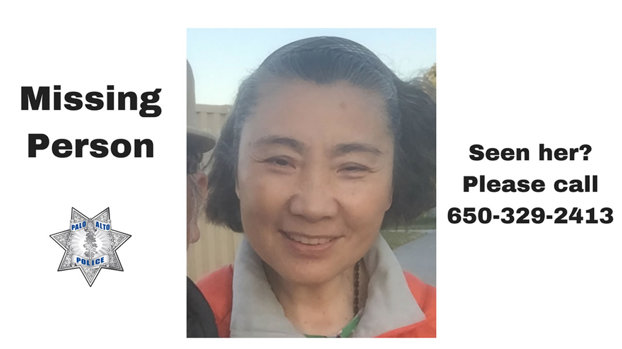 This is an undated image of missing woman Ming Du, 59, who was last seen in Palo Alto Tuesday.