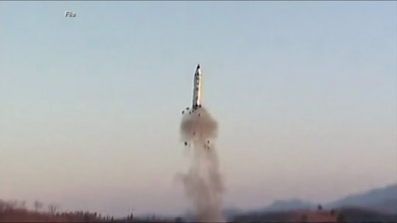 A previous missile launch in North Korea is shown in a file photo.