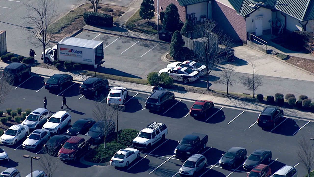 Chopper 11 HD over the U.S. Citizenship and Immigration Services office in Durham