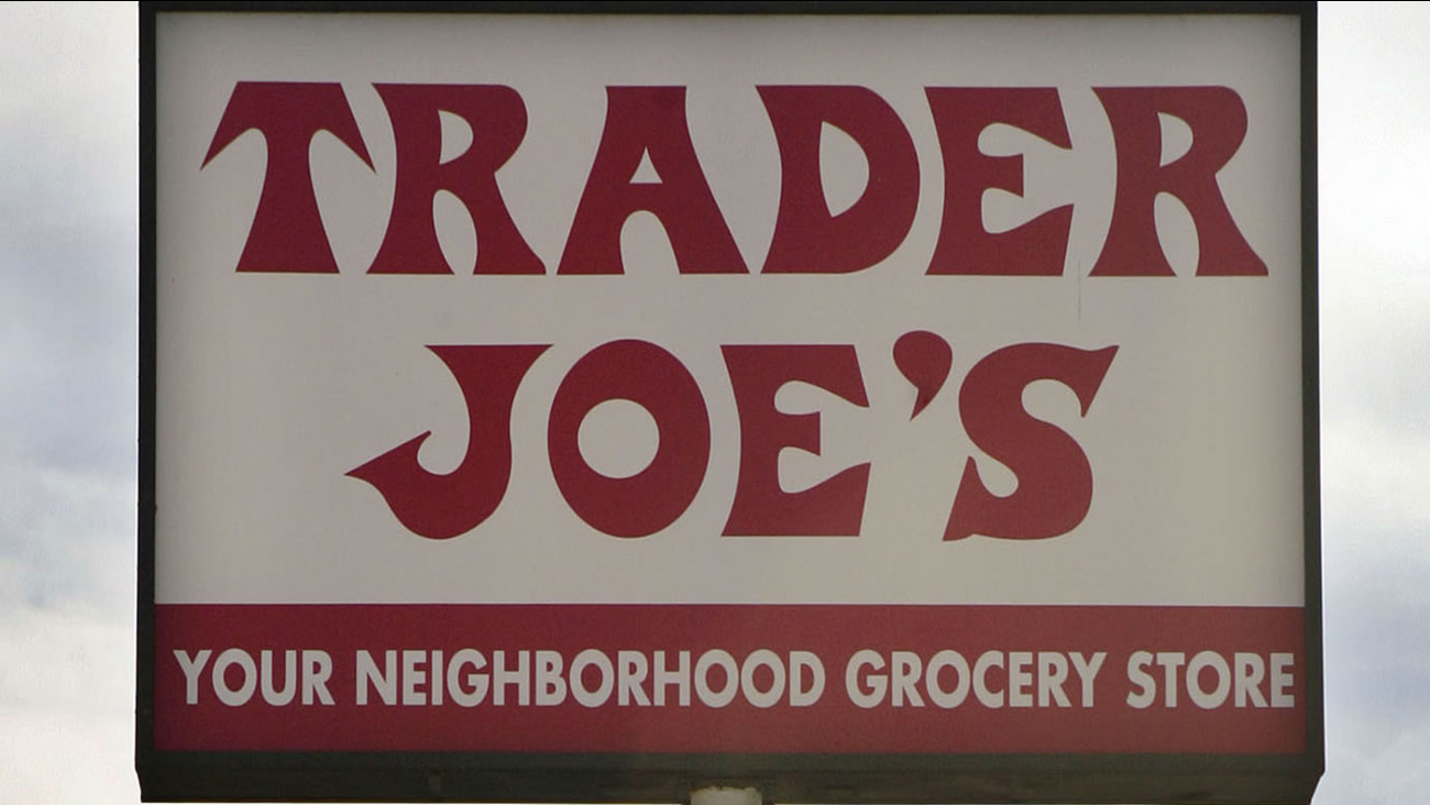 This Feb. 11, 2008 file photo shows a Trader Joe's sign in Los Angeles. (AP Photos/Ric Francis, File)