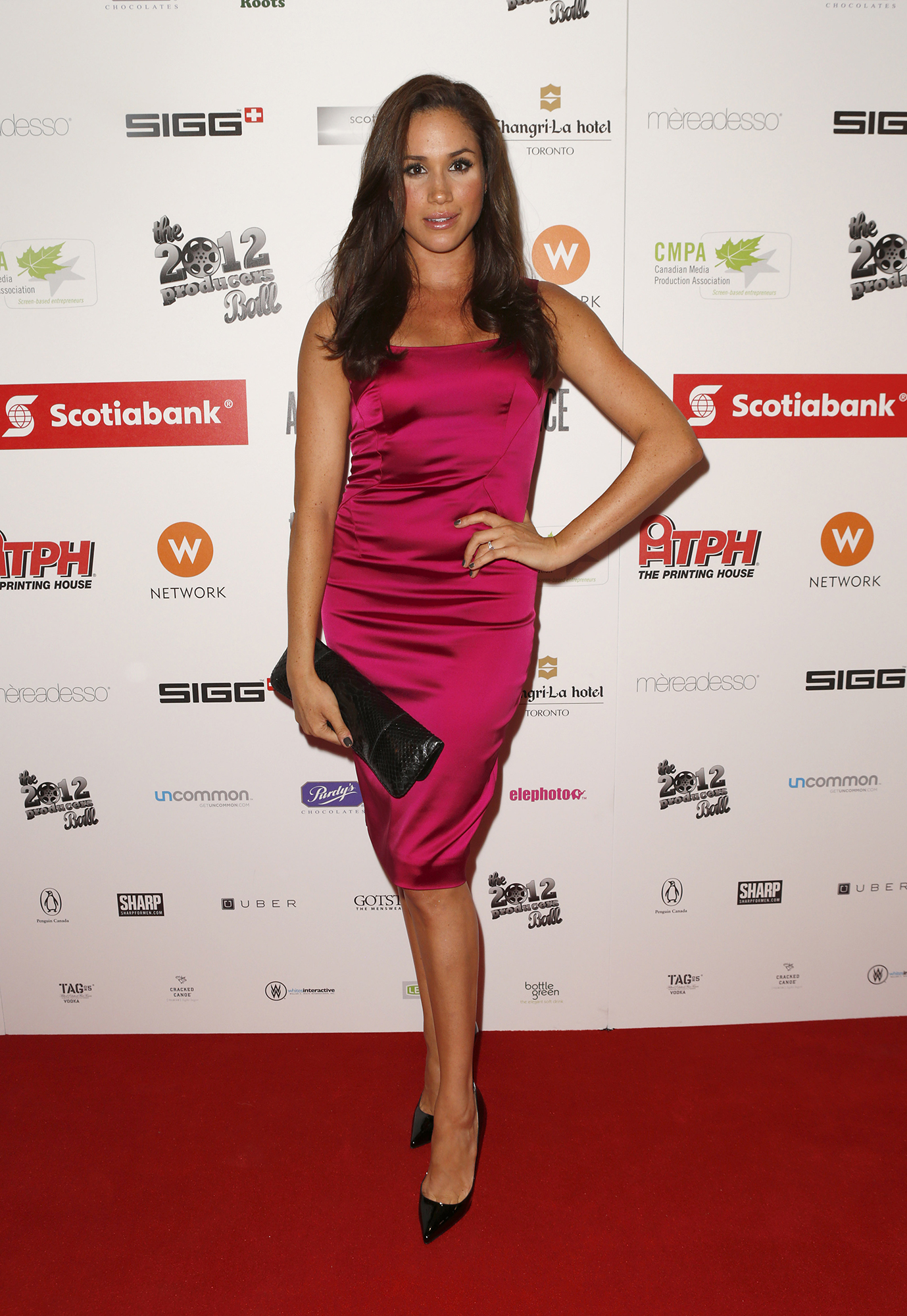 <div class='meta'><div class='origin-logo' data-origin='AP'></div><span class='caption-text' data-credit='Todd Williamson/Invision/AP'>Meghan Markle attends the Producers Ball 2012 at the Shangri-La Toronto on Wednesday Sept. 5, 2012, in Toronto, Canada.</span></div>