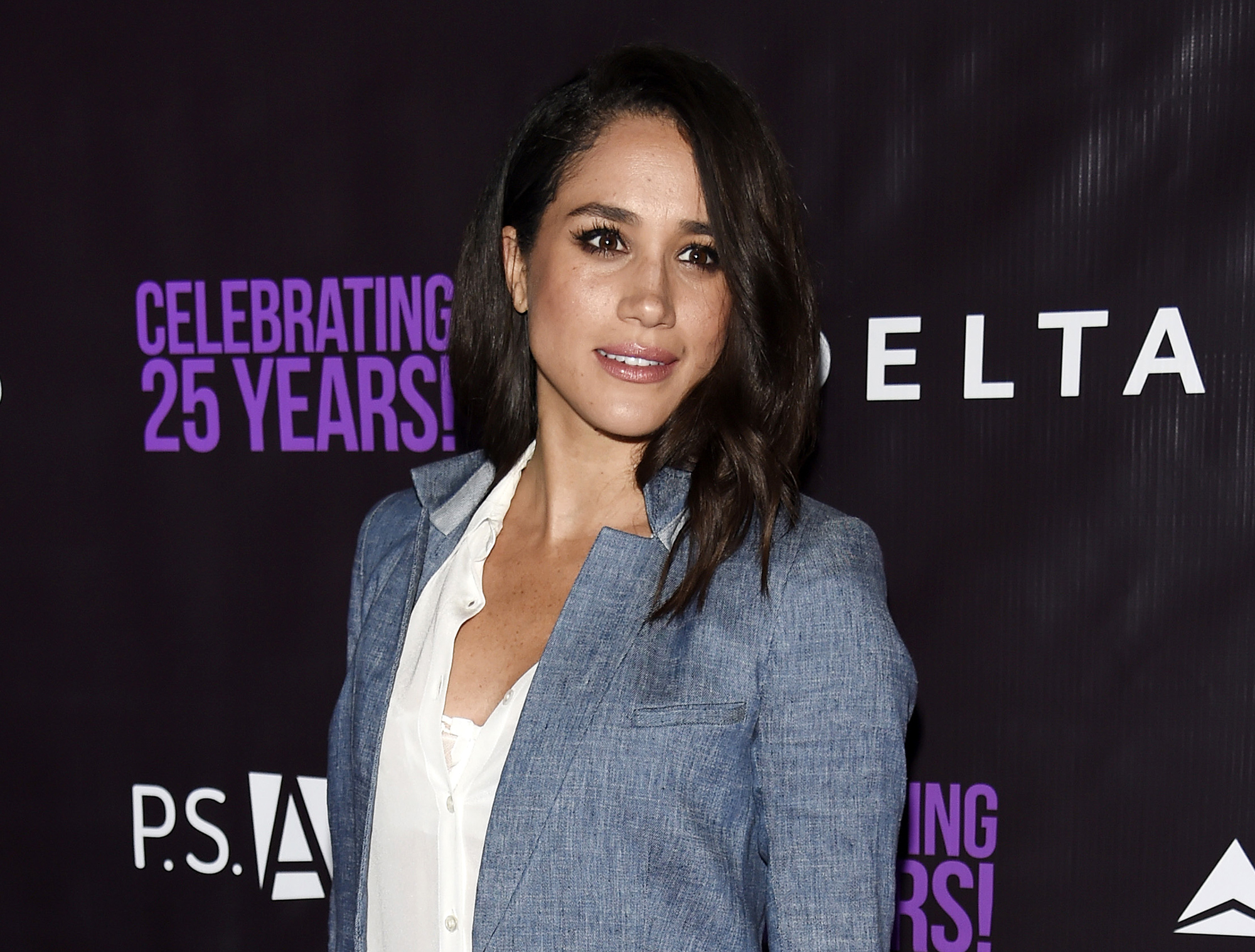 <div class='meta'><div class='origin-logo' data-origin='AP'></div><span class='caption-text' data-credit='Chris Pizzello/Invision/AP, File'>FILE - In this May 20, 2016. file photo, actress Meghan Markle poses at P.S. Arts' &#34;the pARTy!&#34; in Los Angeles.</span></div>