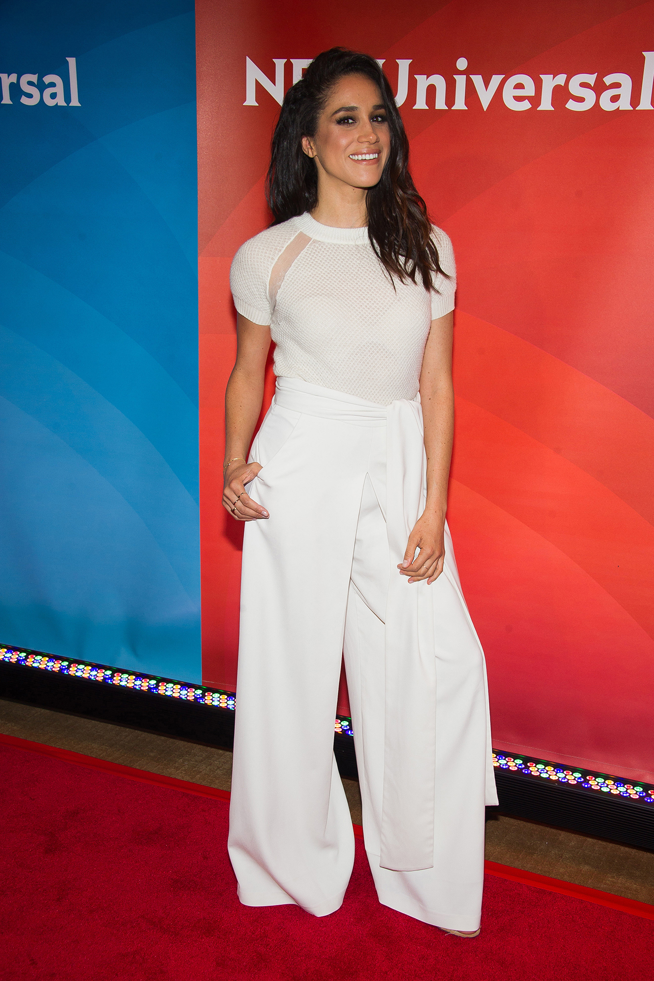 <div class='meta'><div class='origin-logo' data-origin='AP'></div><span class='caption-text' data-credit='Charles Sykes/Invision/AP'>Meghan Markle arrives at the NBCUniversal New York Summer Press Day event at The Four Seasons Hotel on Wednesday, June 24, 2015, in New York.</span></div>