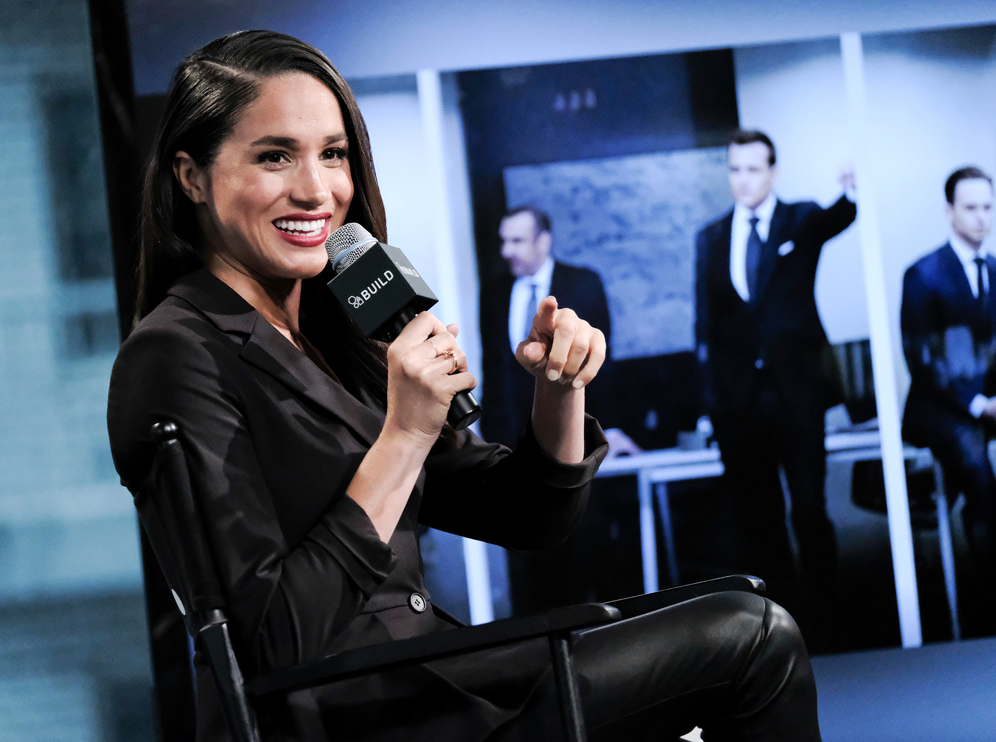 <div class='meta'><div class='origin-logo' data-origin='AP'></div><span class='caption-text' data-credit='Evan Agostini/Invision/AP'>Actress Meghan Markle participates in AOL's BUILD Speaker Series to discuss her role on the television show, &#34;Suits&#34;, at AOL Studios on Thursday, March 17, 2016, in New York.</span></div>