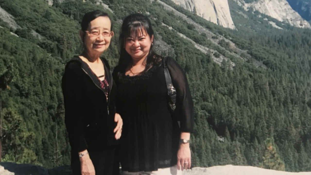 Si Si Han is seen in this undated image with her mother in Yosemite National Park.