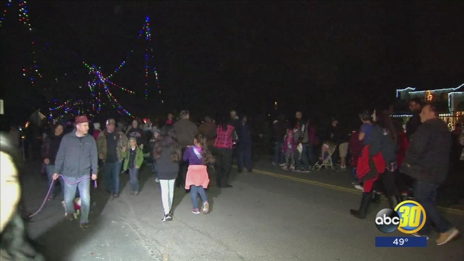 Close to 100 sheriff deputies patrol Christmas Tree Lane - ABC30 Fresno