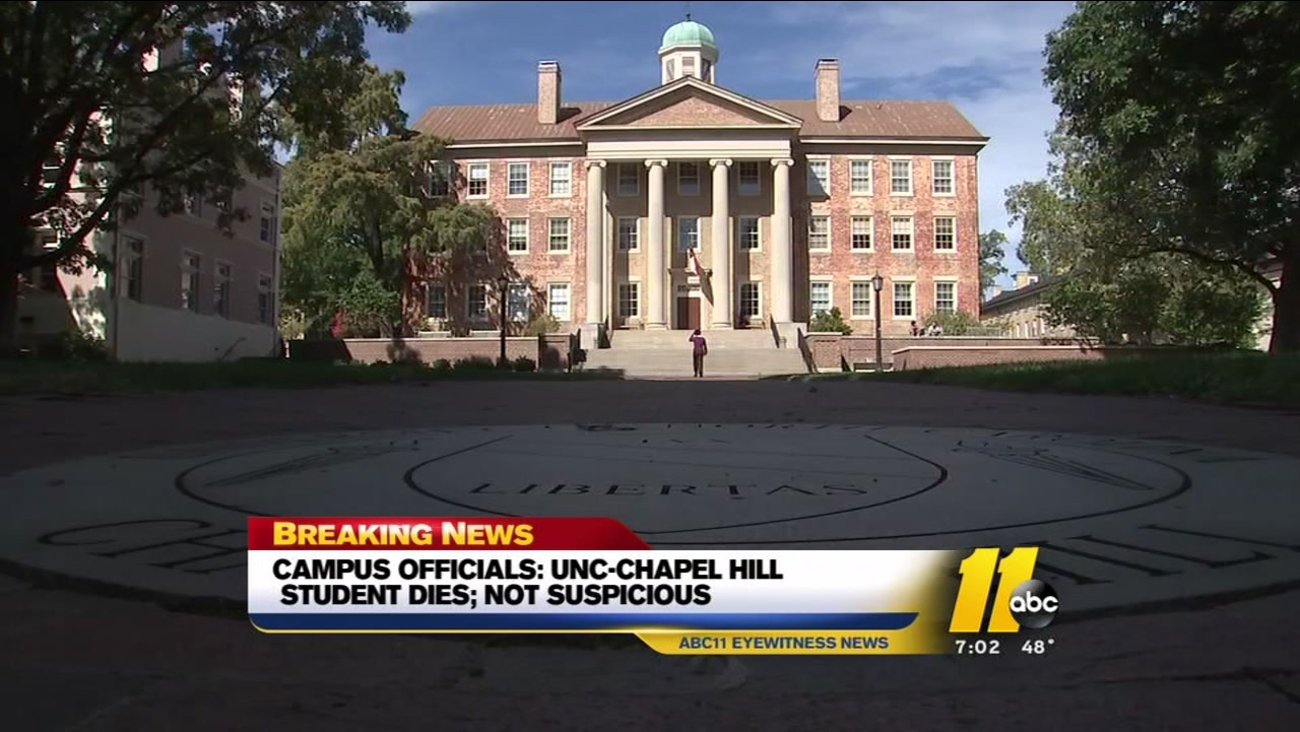 campus officials unc chapel hill student dies