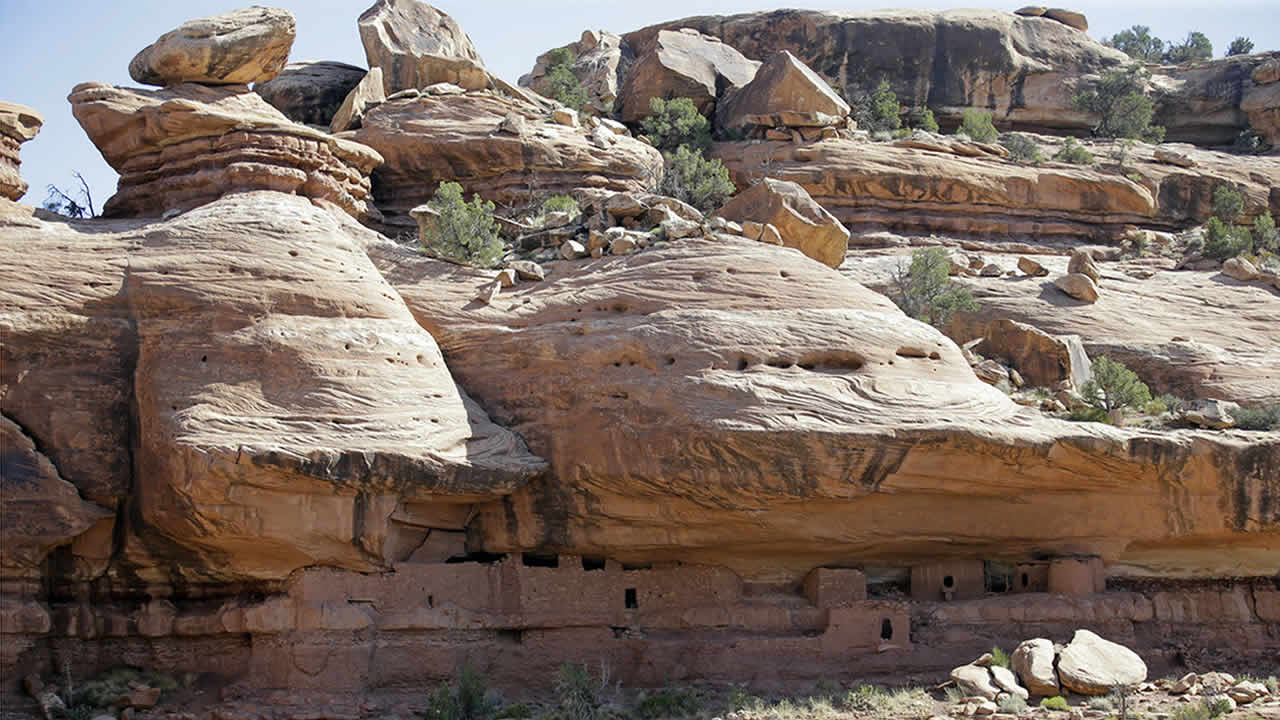 President Donald Trump is expected to announce plans to shrink Bears Ears National Monument (pictured) as well as Grand Staircase-Escalante National Monument in Utah that were created by past Democratic presidents. (AP Photo/Rick Bowmer, File)