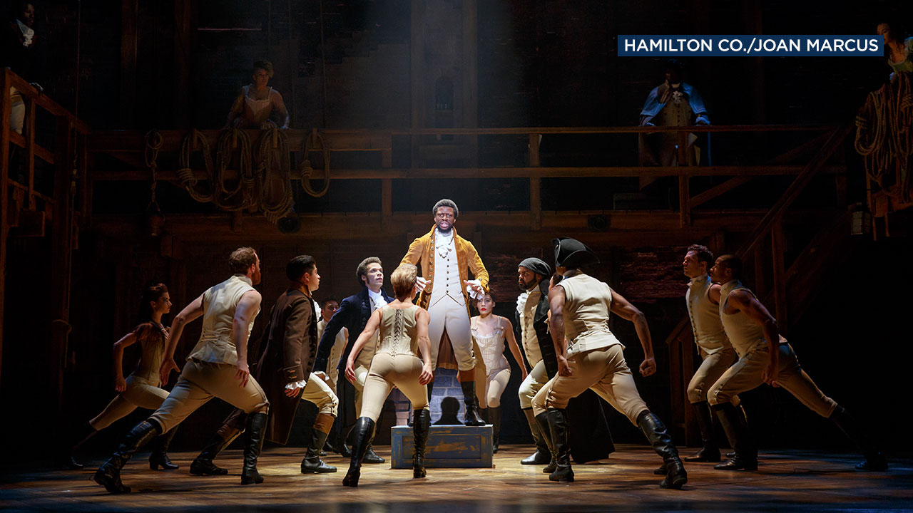 "The musical ""Hamilton"" tells the story of founding father Alexander Hamilton with a modern score."