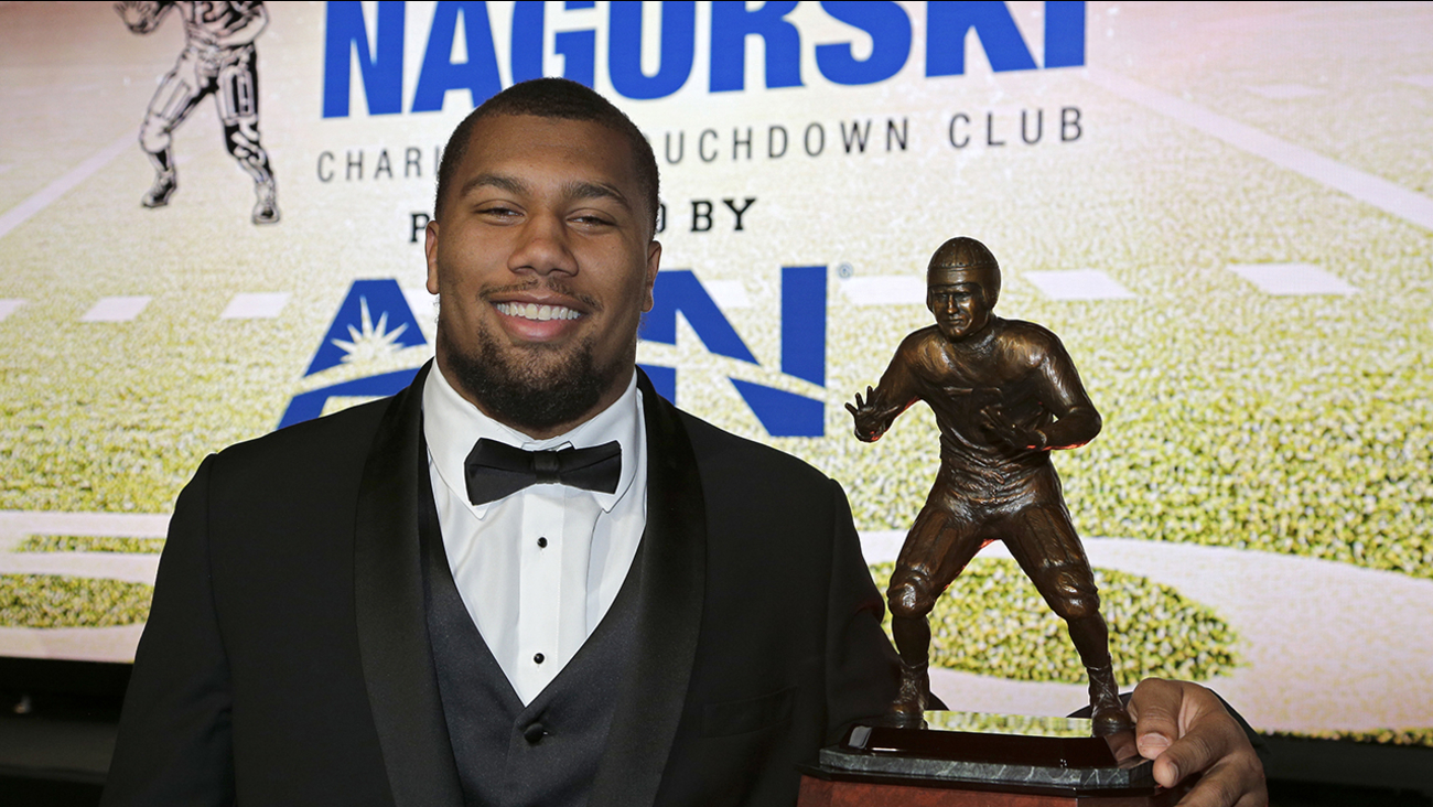 Bradley Chubb became NC State's first winner of the Nagurski Award as the nation's top defender. on Monday.