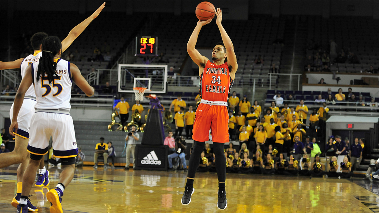 Marcus Burk dropped in 21 for Campbell, but the Camels fell just short against the Pirates on Monday.