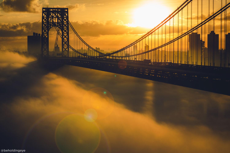 <div class='meta'><div class='origin-logo' data-origin='none'></div><span class='caption-text' data-credit='Paul Seibert (@beholdingeye)'>Sunrise over the George Washington Bridge</span></div>