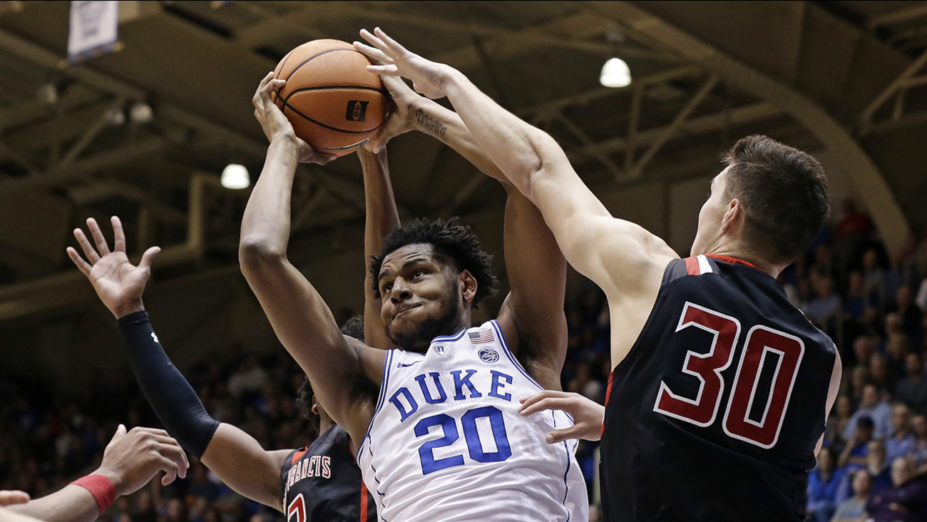 Marques Bolden and Duke had too much muscle for St. Francis on Tuesday night at Cameron Indoor Stadium.