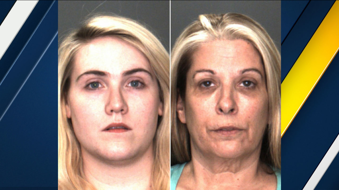 Sagan Marriott and Deborah Jimenez are shown in old mug shots taken during their first arrests in November 2016.