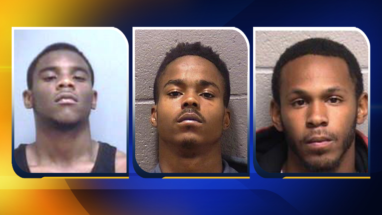 Daiquan Lea McCallum, Brandon Perry, and Hashiem Smith (from left to right)