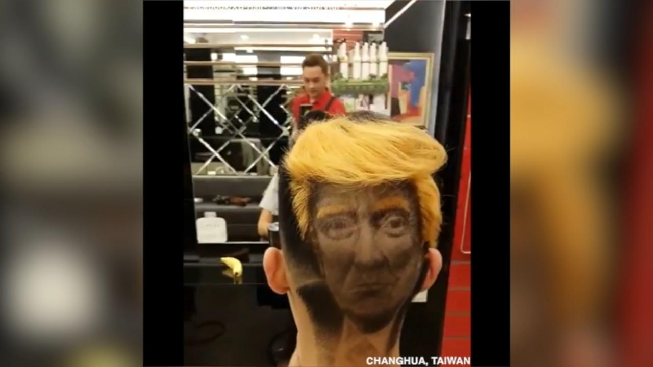 Presidential perm? Salon trims Trump into hair | abc13.com