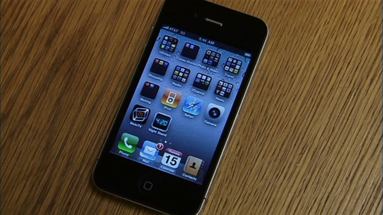 An Apple iPhone is seen in this file photo.