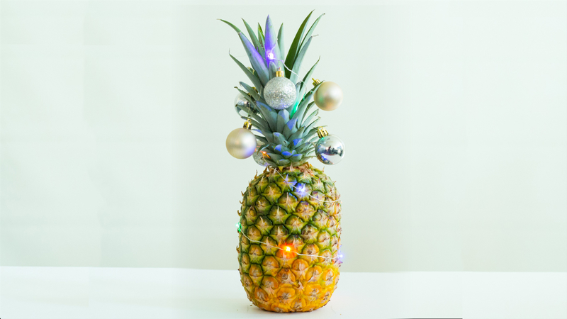 Christmas Pineapple.Christmas Pineapples Give The Yuletide A Tropical Twist