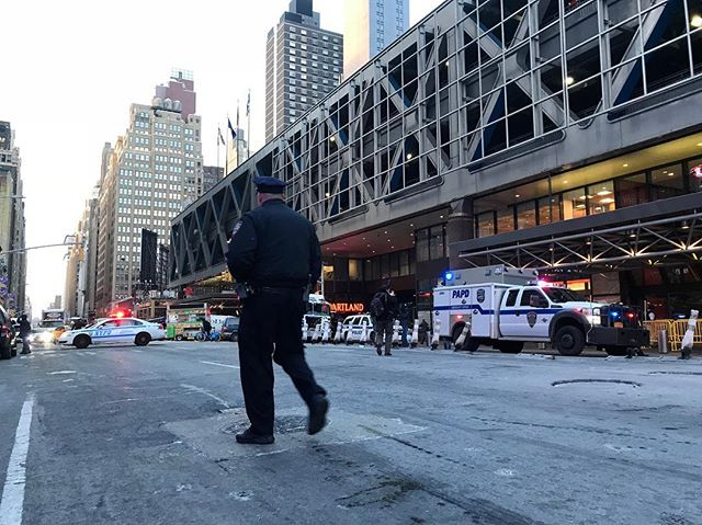"<div class=""meta image-caption""><div class=""origin-logo origin-image wabc""><span>WABC</span></div><span class=""caption-text"">Photos from the scene of a pipe bomb explosion at the Port Authority Bus Terminal in Manhattan, New York City. (Amborjo via Instagram)</span></div>"