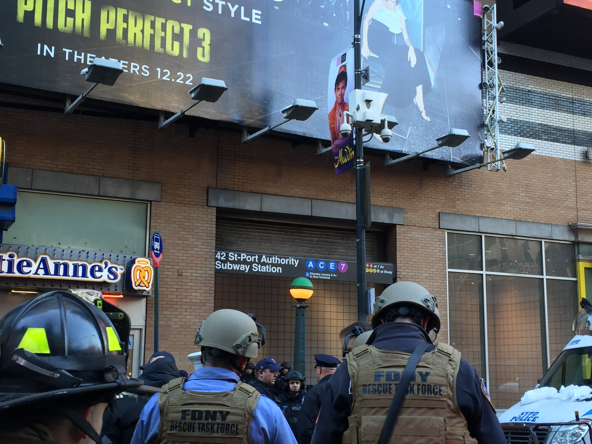 "<div class=""meta image-caption""><div class=""origin-logo origin-image wabc""><span>WABC</span></div><span class=""caption-text"">Photos from the scene of a pipe bomb explosion at the Port Authority Bus Terminal in Manhattan, New York City. (FDNY via Twitter)</span></div>"