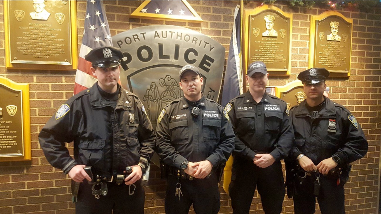 port authority hero police officers