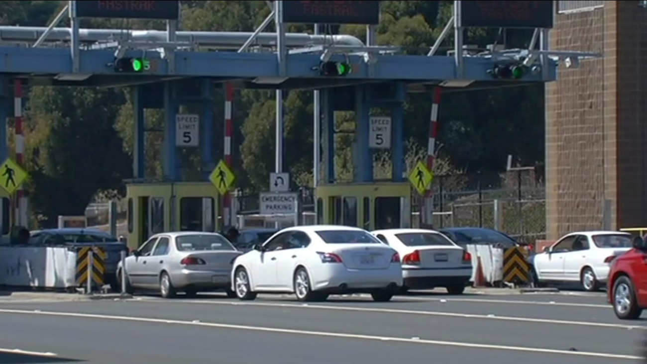 Richmond-San Rafael Bridge toll plaza.