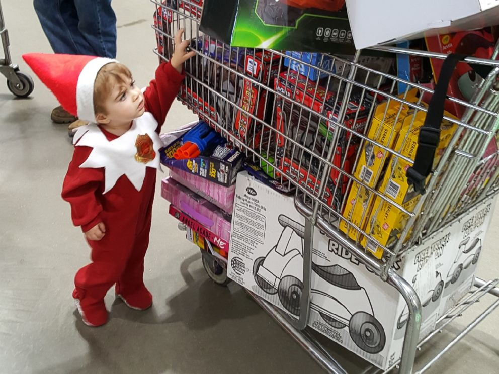 "<div class=""meta image-caption""><div class=""origin-logo origin-image none""><span>none</span></div><span class=""caption-text"">An Indiana mom is dressing her son up as the ""Elf on the Shelf"" to raise money to buy toys for kids in need. (Megan Schott)</span></div>"