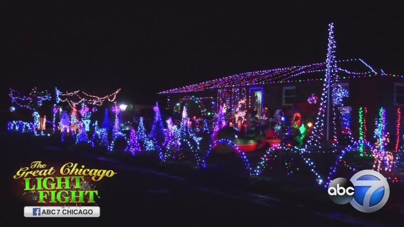 Christmas Light Fight.Portage Light Fight