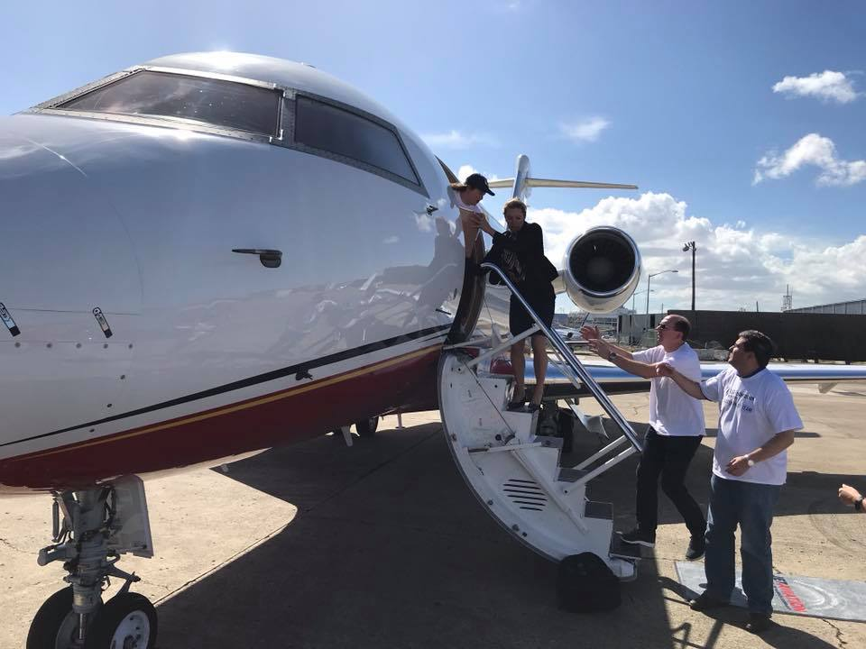 "<div class=""meta image-caption""><div class=""origin-logo origin-image none""><span>none</span></div><span class=""caption-text"">A private jet carrying volunteers from UJA-Federation of New York and the Afya Foundation.</span></div>"