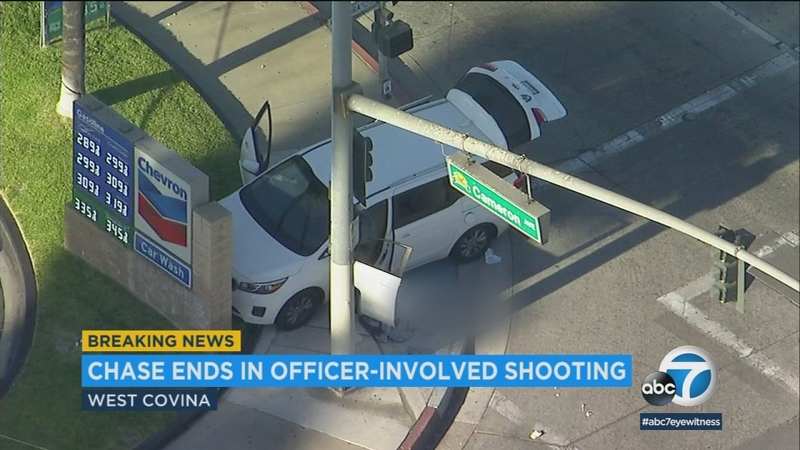 Police open fire on burglary suspect in West Covina