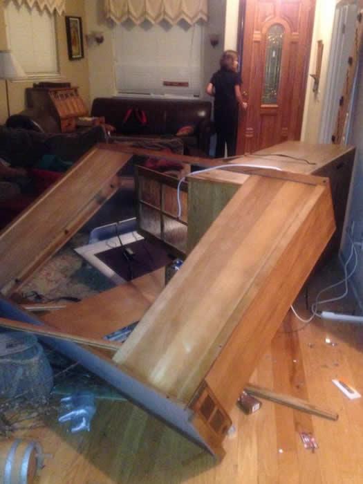 "<div class=""meta image-caption""><div class=""origin-logo origin-image ""><span></span></div><span class=""caption-text"">Furniture was strewn across the floor after a 6.0-magnitude earthquake struck the northern San Francisco Bay Area Sunday, Aug. 24, 2014. (Danielle Suesens Irwin via Facebook)</span></div>"