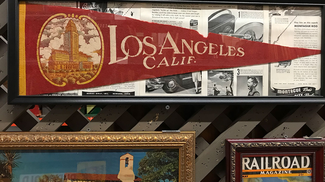 The company released photos of the memorabilia that will line the eatery's walls, noting that all of the knick-knacks are from California companies.